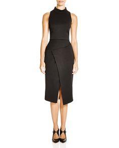 Black Halo Juma Mock Neck Two-Piece Midi Dress | Bloomingdale's
