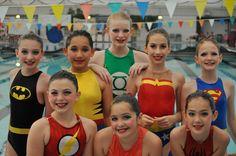 Jessica's superhero synchronized swimming team. The Cygnets of San Antonio. @Shweiki Media Printing Company    @hasslefreeheros   #hasslefreeheros #lilhasslefreeheros