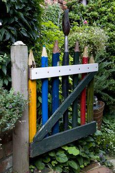 12 Pergola Patio Ideas that are perfect for garden lovers! Outdoor Art, Outdoor Gardens, Outdoor Decor, Pergola Designs, Garden Gates, Dream Garden, Yard Art, Garden Projects, Garden Inspiration