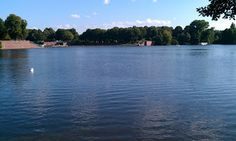 The lake in Hamburg, Germany's Stadtpark, a big stretch of greenspace for a great city run