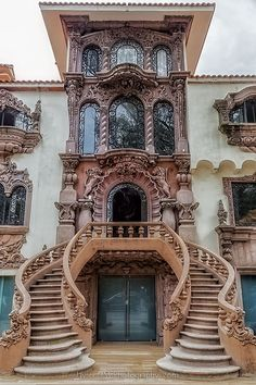 Art Nouveau Architecture 1 (Art Nouveau Architecture design ideas and photos Architecture Design, Architecture Art Nouveau, Beautiful Architecture, Greece Architecture, Stairs Architecture, Architecture Magazines, Facade Design, Door Design, Exterior Design