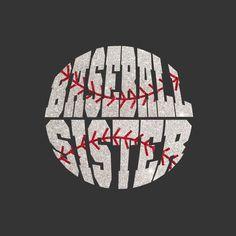 Girls Glittter Bling Baseball Sister Tshirt by RedheadedMonkeys, $25.00