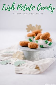 Irish potato candies are little bites of sweetened cream cheese and coconut, dusted with cinnamon. They are delicious and incredibly easy to make. Irish potato candy. Irish potato candy easy. #irishpotatocandy #irishpotatocandyeasy #irishpotatoes #sweet #coconut #coconut #creamcheese #potatocandies #irish #dessert #recipe #foodblogger Candy Recipes, Snack Recipes, Dessert Recipes, Potato Recipes, Yummy Recipes, Irish Desserts, Irish Recipes, Baked Bree Recipe, Potato Candy