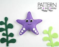 Starfish Pattern, Felt Starfish Sewing Pattern, Starfish SVG Pattern Starfish Baby Mobile Ornament Pattern StarfishToy Under the Sea