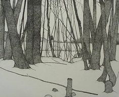 Art Hansen - Winter Forest, etching