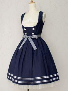 Innocent World Sailor Line JSK (2013) in Navy #sailorloli #wishlist