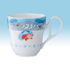 Ponyo NORITAKE Mug Cup Blue Studio Ghibli Ponyo on the Cliff by the Sea Japan