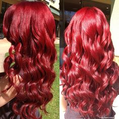 red  Ombre Hair | got my hair styled by the wonderful dani ullman at cleo s hair salon ...