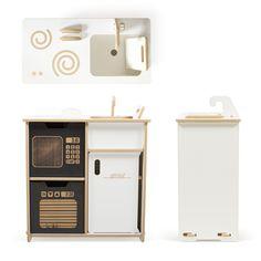 White Sprout Modern Play Kitchen Set