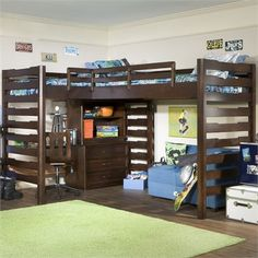 Studio Dual Corner Loft Bed. For Nyeem and her bestie, or when little brother is invited to stay.