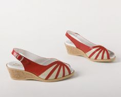 Shoe Market - Worishofer 881 - Red/Gold
