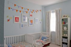 Twin boys toddler room. #toddler