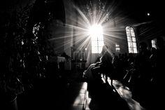 Hochzeit in der evangelisch reformierten Kirche in Suderwick - Sonnenstrahl durch Kirchenfenster 21.10.2011