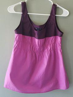 Gap purple pink cotton tank top shirt elastic waist womens size S #GAP #TankCami #Casual