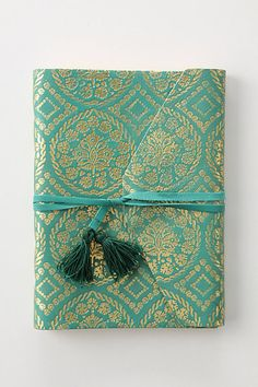 gold & turquoise journal from Anthropologie