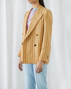 Look beyond black to bring life to your wardrobe this season. Reach for pops of color—think brightful blues, vivid stripes and surreal hues to add vibrancy to your neutrals. Fragrance Online, Jil Sander, Acne Studios, Color Pop, Fashion Brands, Blues, Stripes, Coat, Jackets