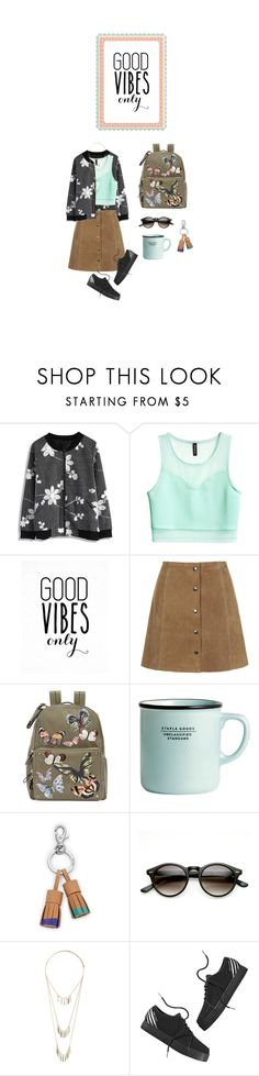 """""""Untitled #139"""" by freshlydressed ❤ liked on Polyvore featuring Chicwish, H&M, WALL, Topshop, Valentino, FOSSIL, Dorothy Perkins and adidas NEO"""