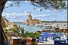 Sicily. The view if you were dining at the Ristorante Mamma Caura in Marsala. www.alidifirenze.fr