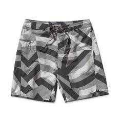 "Patagonia Men's Minimalist Wavefarer® Board Shorts - 19"" - Razzle Flage: Feather Grey (RZFG)"