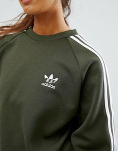 Adidas Jumper, Adidas Outfit, Nike Outfits, Adidas Jacket, Casual Outfits, Fashion Outfits, Sweat Shirt, Crew Sweatshirts, Crew Neck Sweatshirt
