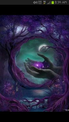 Discovered by purple rose. Find images and videos about art, night and moon on We Heart It - the app to get lost in what you love. Fantasy Kunst, Moon Magic, Beautiful Moon, Beautiful Things, Fantasy Landscape, Fairy Art, Moon Art, Moon Moon, Dark Moon