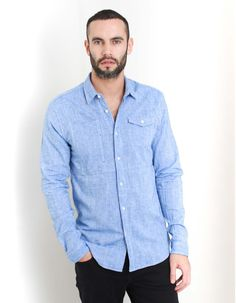 Scotch & Soda Blue Worker Shirt | Accent Clothing