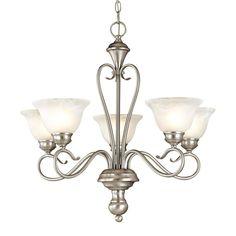 Millennium Lighting Devonshire 5-Light Satin Nickel Chandelier