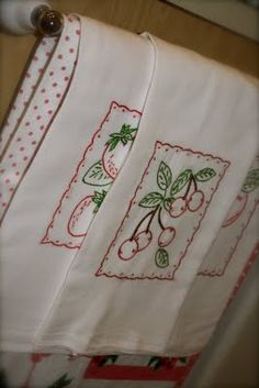 cute embroidered towels