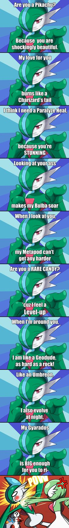 Pokemon Pick-up Lines - feat. Gallade by Mgx0 on DeviantArt