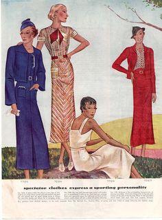 Vintage Fashion AD McCalls Ladies Dress Sewing by vintagebarrel(10)