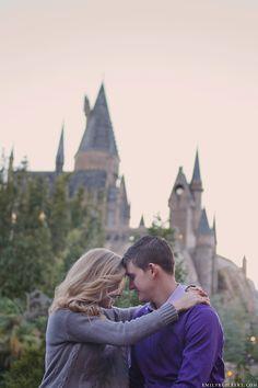 kristal & jimmy {wizarding world of harry potter engagement photography} Engagement Shots, Engagement Couple, Engagement Pictures, Engagement Photography, Engagement Ideas, Harry Potter Engagement, Harry Potter Wedding, Moon Wedding, Dream Wedding