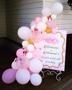 Pop the Balloon! Children's Parties & Events 's Birthday / Prima Ballerina - Photo Gallery at Catch My Party 1st Birthday Party For Girls, Ballerina Birthday Parties, Ballerina Party, Little Girl Birthday, Diy Birthday, Balloon Decorations, Birthday Party Decorations, Balloon Garland, Balloons