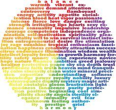 color wheel of emotion words!