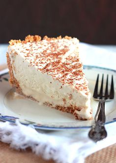 Frozen Brandy Alexander Pie - I'd have to leave the liquor out...
