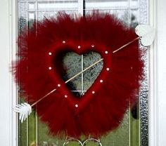 Valentine's Day Wreath. Handmade just for you! Purchase this beautiful wreath in time for Valentine's Day to make your porch the best in the neighborhood! ORDER YOURS TODAY!!!