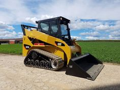 2008 Caterpillar 257B2 Compact Track Skid Steer Loader Cabbed New Rubber Tracks