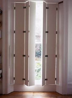 grey french shutters and white chair | Interior Shutters | Pinterest ...