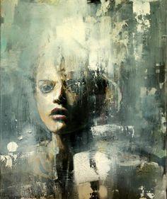 """Something Written"" - Acrylic on canvas - 60cm x 50cm - Benjamin García"