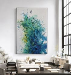 Home Interior Decoration Ideas Living Room Art, Living Room Interior, Your Paintings, Beautiful Paintings, Oil Painting Abstract, Blue Painting, Wall Decor, Wall Art, Contemporary Art