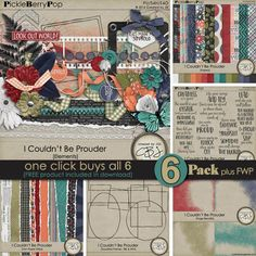 I Couldn't Be Prouder ~ 6-Pack plus FWP {from Created by Jill} Also available  and on sale in separate packs