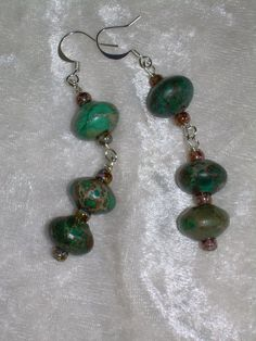 Turquoise Earrings to Match Turquoise Bead by ArabesqueArtsByDarcy, $6.00