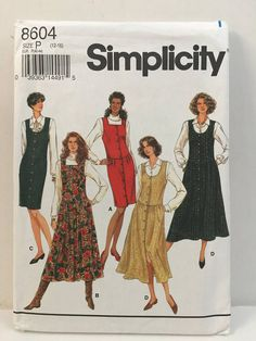 Simplicity 8604 Jumper Dress Sewing Pattern with Slim or