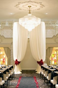 Image result for rosewood hotel georgia wedding ceremony oval drape