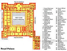Madrid Royal Palace - Floor plan map
