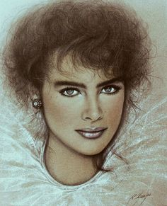 """Portrait of Brooke Shields"" (1982)  by Ricardo Asensio."