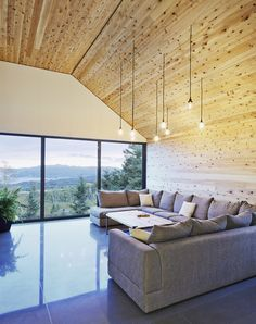Pendants on a sloped ceiling
