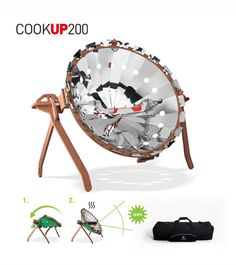 Solar barbecue COOKUP 200 has been warmly welcomed in Japan! Barbacoa, Solar Cooker, Solar Oven, Solar Energy, Laser Cutting, Cool Stuff, Cooking, Barbecues, Grill Or