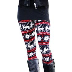 a01afd1c8b358 Amiley Fashion Women Skinny Geometric Pattern Stretchy Pants Tights Leggings  L C ** Visit the image