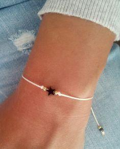 Star bracelet, Wish bracelet, Friendship bracelet, Sterling silver bracelet, Gift jewelry Stern Armband Wunscharmband Freundschaftsarmband Sterling Cute Jewelry, Jewelry Gifts, Beaded Jewelry, Jewelery, Turquoise Jewelry, Bracelets En Argent Sterling, Sterling Silver Jewelry, Silver Ring, Wish Bracelets