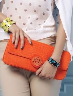 Love this orange Clutch Purse ♥ {Great Fall Color}